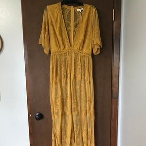 Mustard Honey Punch Maxi Dress